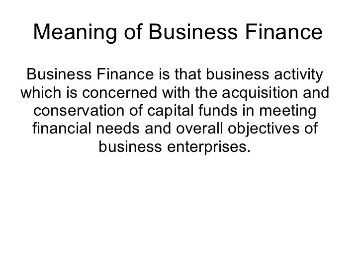consumer small business financing business factors